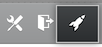 Rocketship icon for accessing site admin settings