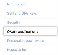 Applications settings