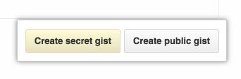 Gist create button