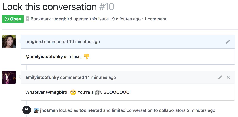 Locked conversation