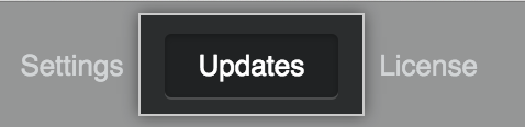 Updates menu item
