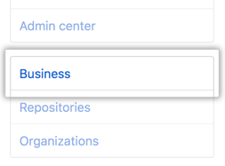 Business tab in the Site admin settings