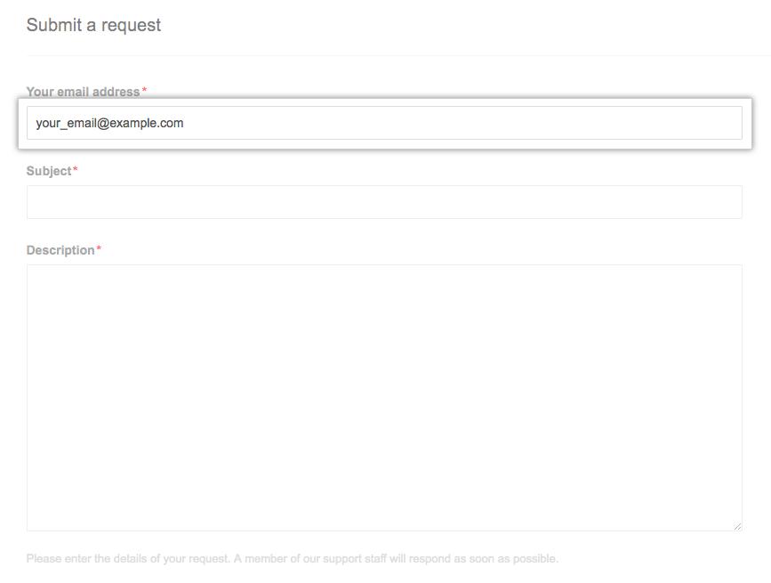 Campo Tu dirección de correo electrónico