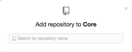 Repository search field