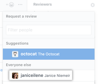 Reviewers gear icon in the right sidebar