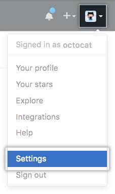 Icono Parámetros en la barra de usuario