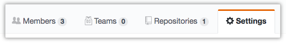 Team settings tab