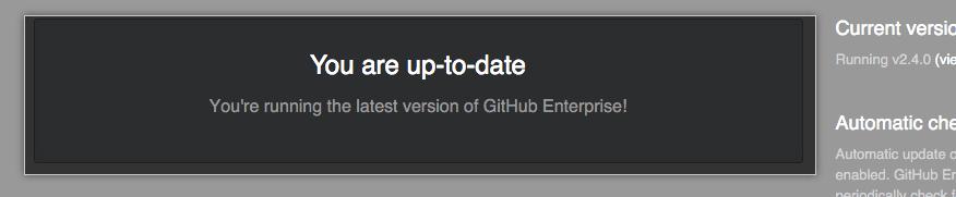 Banner indicating your release of GitHub Enterprise Server