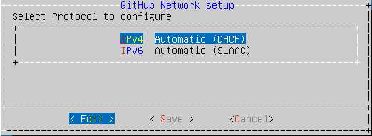 IPv4 または IPv6 プロトコルを選択するためのオプション