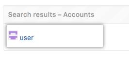 サイドアドミン設定の検索オプション