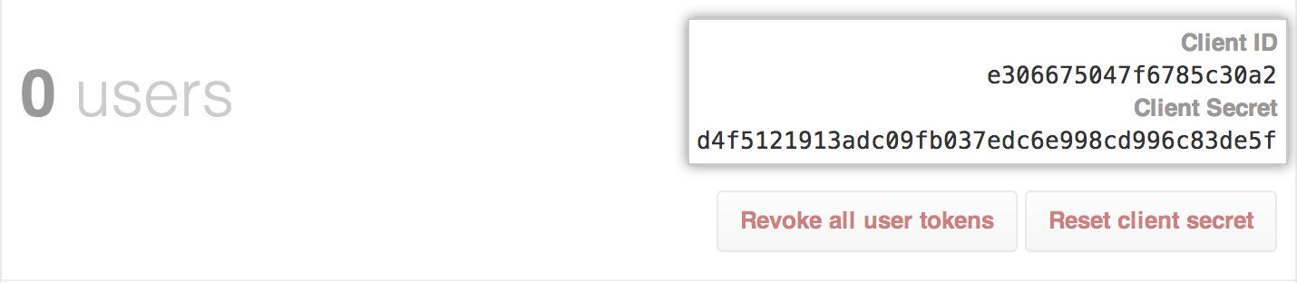 Client ID (ID do cliente) e Client Secret (Chave secreta do cliente)