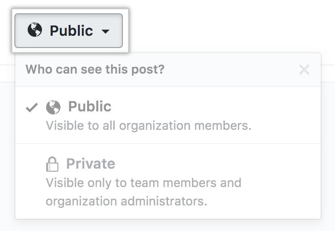 团队讨论隐私设置菜单