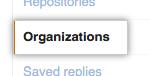 User settings for organizations
