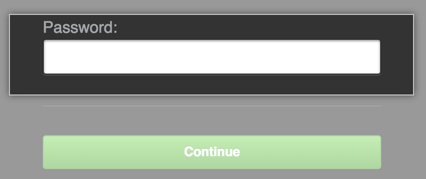 Management Consoleのロック解除画面