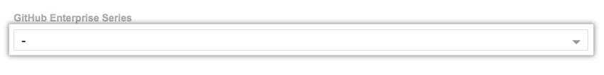 GitHub Enterprise シリーズ ドロップダウンメニュー