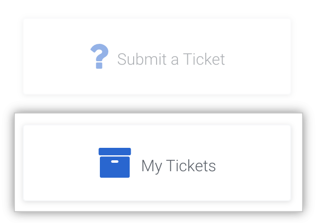 View past submitted tickets