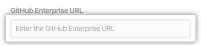 GitHub Enterprise API URL 字段