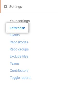 Enterprise(企业)选项卡