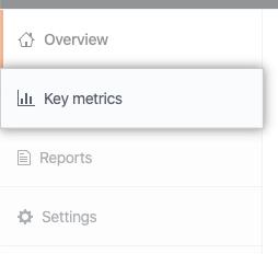 Key metrics(关键指标)选项卡