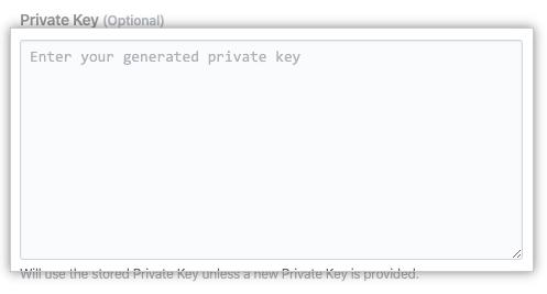 Private key field