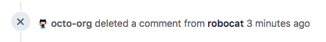 Anonymized timeline event for a deleted comment