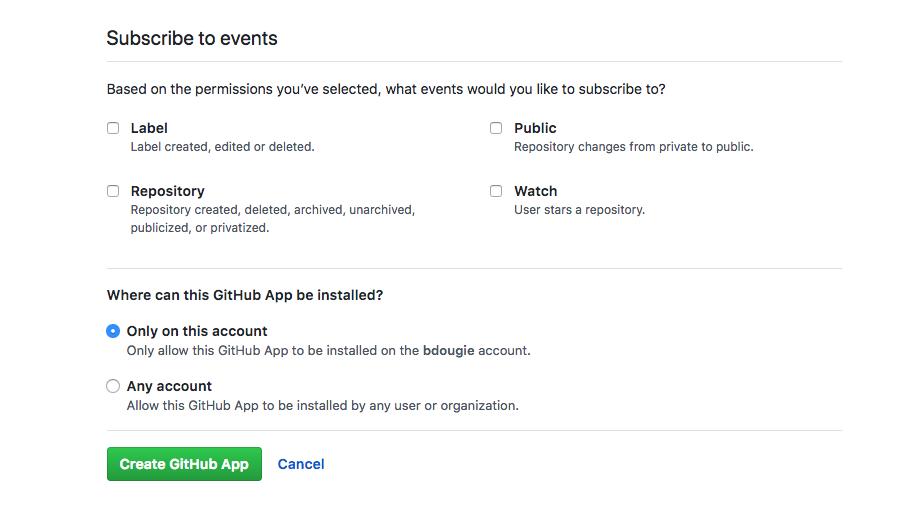 Privacidad de GitHub App