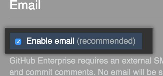 Habilitar e-mail de saída