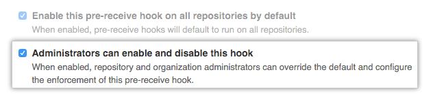 Habilitar ou desabilitar hooks para administradores