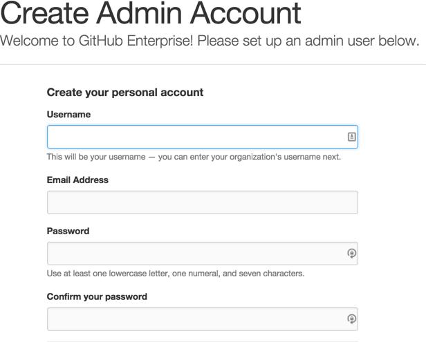 Criar conta de administrador