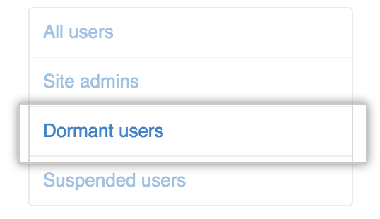 Dormant users tab