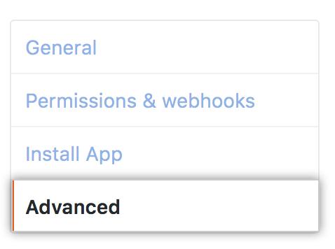Advanced tab