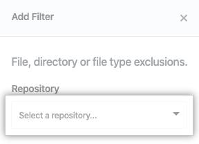 Repository drop-down menu