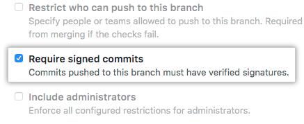 Opción Requerir confirmaciones firmadas