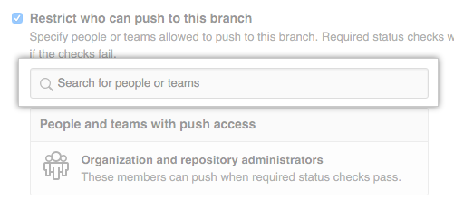 Branch restriction search