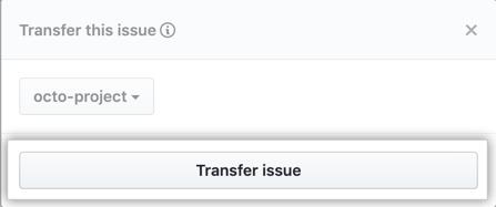 Botão Transfer issue (Transferir problema)