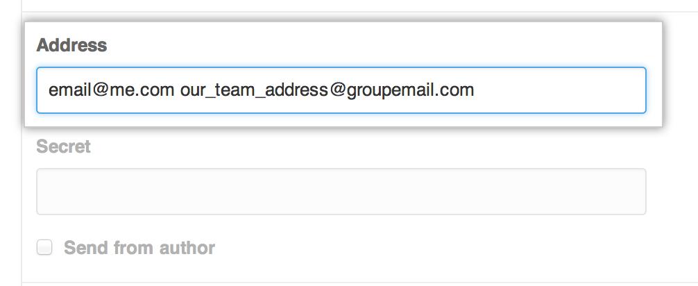 Cuadro de texto dirección de correo electrónico