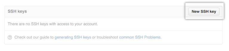 Botão SSH Key (Chave SSH)