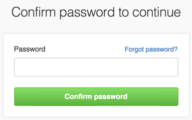 Password confirmation