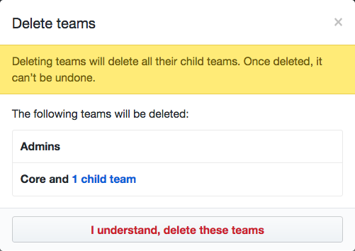 Lista de equipos que se eliminarán y botón Eliminar equipos