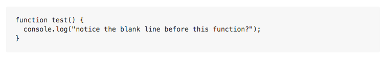 表示されたコードブロック
