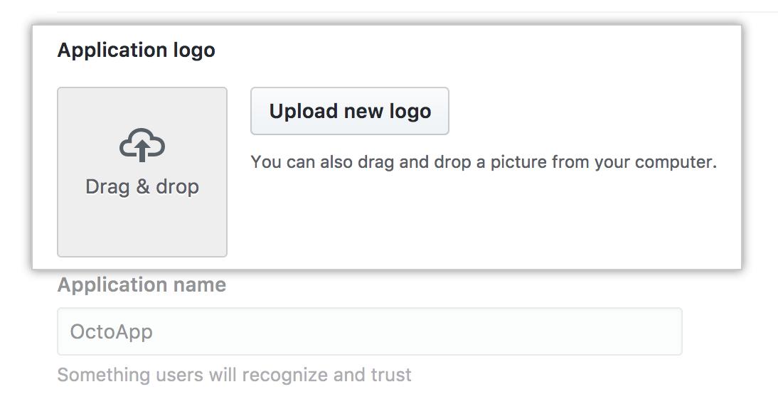 Faça o upload de um logotipo