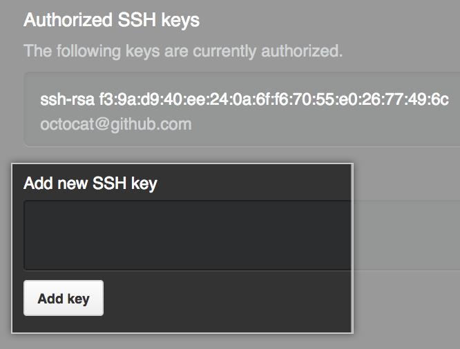 添加 SSH 密钥