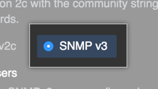 Botão para habilitar o SNMP v3
