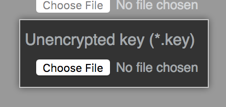 Button to find TLS key file