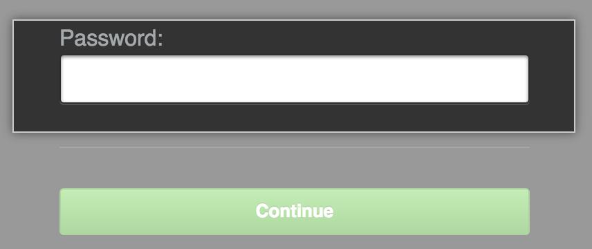 Management Console unlock screen