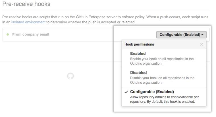 Hook permissions