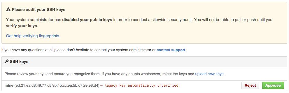Auditing keys
