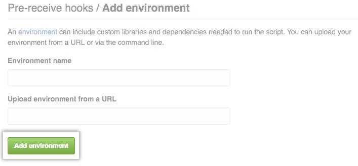 Add environment 按钮