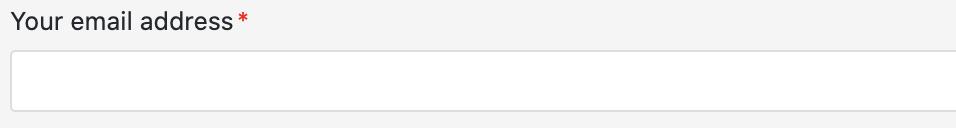 您的电子邮件地址字段