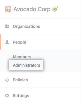 Administrators tab